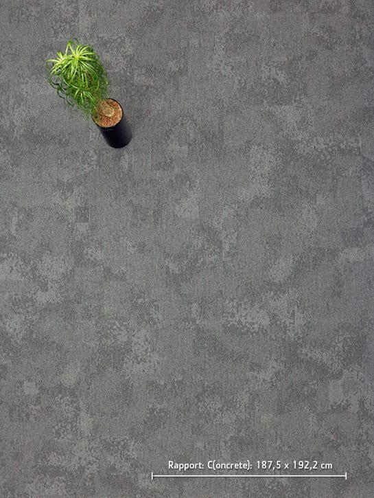 image 5 of 17 – Interfloor Graphic Project-SDN – kleur C51 – Bovenaanzicht rapport concrete dessin