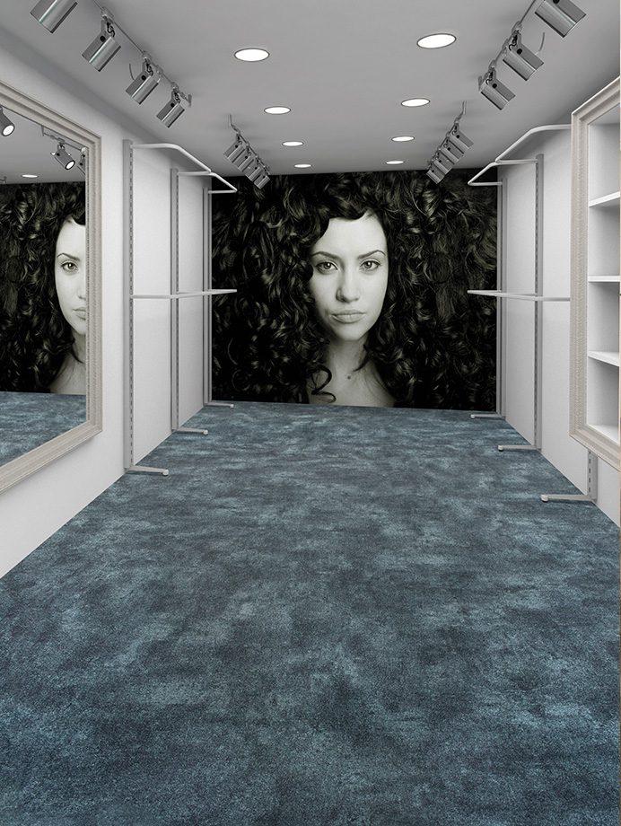 image 12 of 12 - Interfloor Myscrete - kleur 879 - Fashion Shop Hal met spiegel