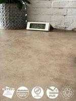 image 3 of 6 - Interfloor Betona Project - kleur 867 - Detail trendy marmerlook PVC vinyl