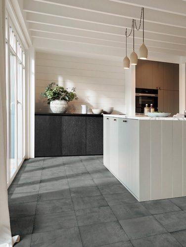 schitterende aanvulling uiteenlopende en karakteristieke naadloze PVC-vloer Dynamic Stone - magnifiek XL tegeldessin - Extra large vierkant 50 x 50 cm