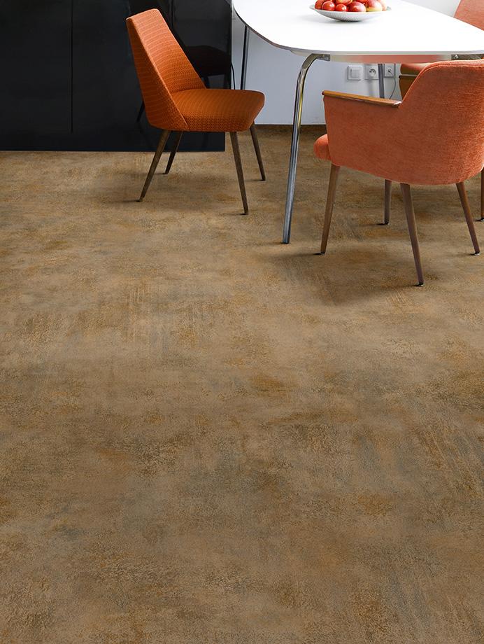 image 11 of 11   Interfloor Dynamic Stone - Kleur 427 Copper - Koper betonlook keukenvloer