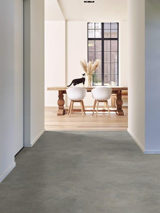image 1 of 9 – Interfloor Dynamic Marmo – Kleur 327 – Hal huiskamer met kat