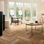 Wood XL Fishbone - indrukwekkende robuuste planken - Digital Print Technology - tijdloos, geliefd, traditioneel, vintage - Uniek karakter, monumentaal tot nieuwbouw