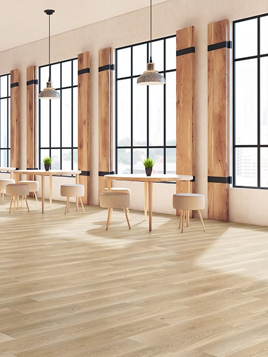 image 5 of 10 – Interfloor Dynamic Wood-3D – Kleur D36 – Restaurant / Aula