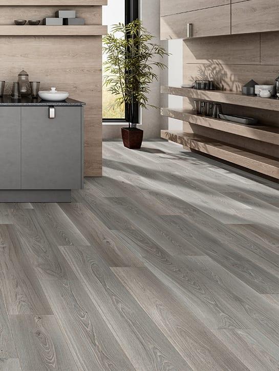 image 2 of 10 – Interfloor Dynamic Wood-3D – Kleur D76 – PVC vloer woonkeuken